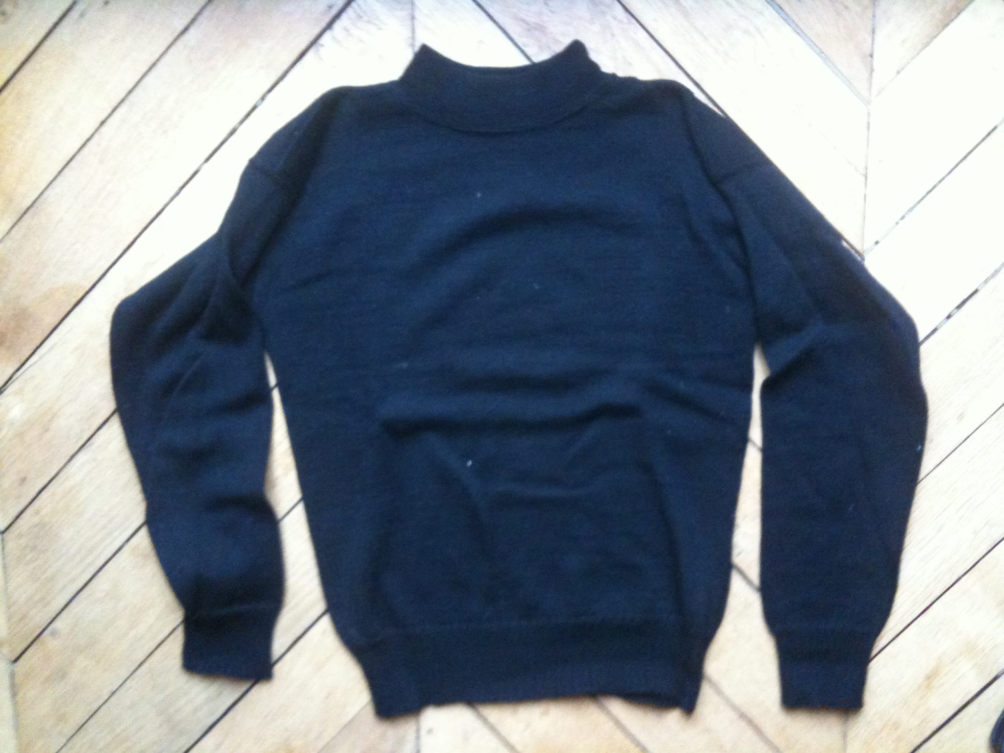 Us Navy Wool Sweater - Cardigan With Buttons
